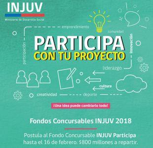 #Participa2018: Revisa cómo postular a fondo del Injuv para iniciativas juveniles