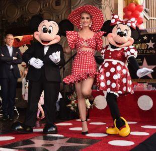 Minnie recibe estrella en Hollywood 40 años después que Mickey Mouse