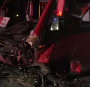 Accidente entre un automóvil y bus del Transantiago deja un muerto y dos heridos en Quilicura