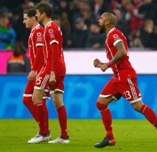 Con aporte de Arturo Vidal incluido: Bayern Munich sigue puntero tras imponerse al Hoffenheim