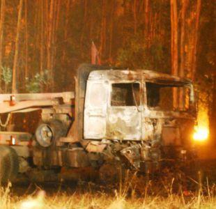 Camion quemado