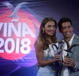 Carolina de Moras y Rafael Araneda, los animadores del Festival de Viña del Mar 2018
