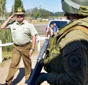 General Villalobos se reúne con carabineros en La Araucanía