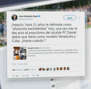[VIDEO] José Antonio Kast arremete contra Lavín por Inmobiliaria Popular