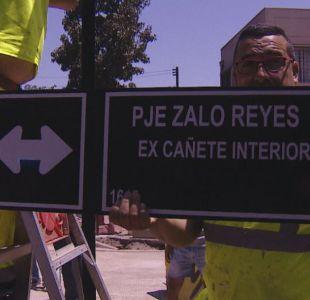[VIDEO] Zalo Reyes ya tiene calle propia