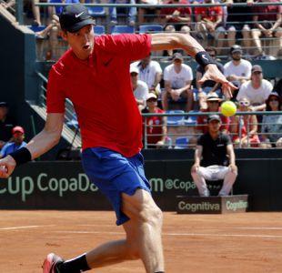 [Juego a Juego] Nicolás Jarry está venciendo a Roberto Quiroz en singles de Copa Davis