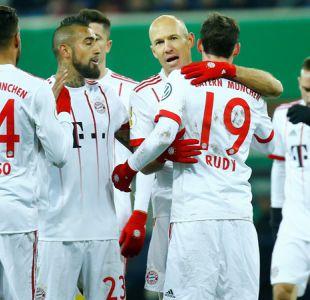Bayern Munich con Arturo Vidal se da un paseo para avanzar en Copa de Alemania