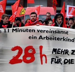 Los obreros alemanes logran que su semana laboral se reduzca a 28 horas