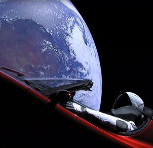 Tesla Roadster en órbita