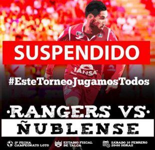 Duelo entre Rangers y Ñublense en Talca será reagendado por motivos de seguridad