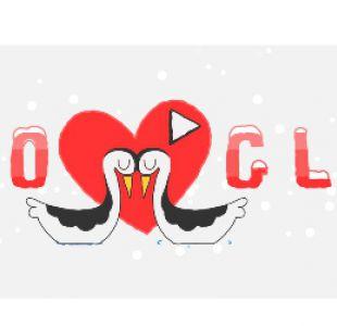Google elogia a los enamorados en el día de San Valentín con un Doodle Olímpico