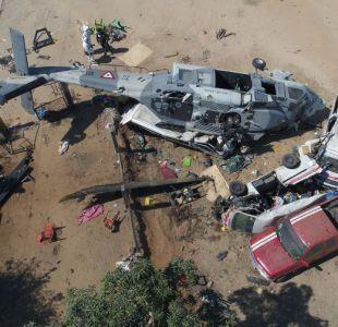 Sube cifra de fallecidos en accidente aéreo tras fuerte sismo en México
