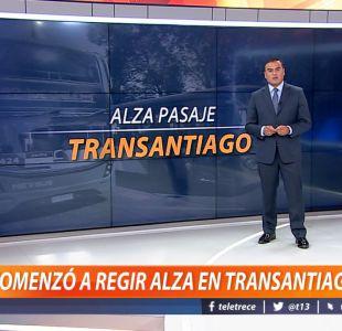 [VIDEO] Ramón Ulloa explica cómo comenzó a regir alza en Transantiago