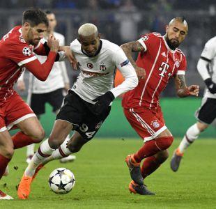[Minuto a Minuto] Bayern de Vidal goleó a Besiktas de Medel en Champions League