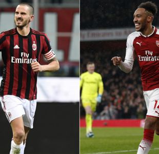 AC Milan y Arsenal animarán el choque estelar en octavos de final de la Europa League