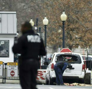 Cierran instalaciones de la Casa Blanca tras choque de un auto contra las barreras de seguridad