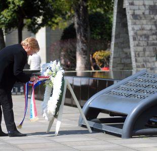 Bachelet homenajeó a víctimas del bombardeo atómico en Nagasaki