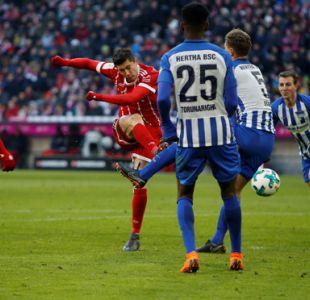 Bayern Munich corta su racha de victorias con empate sin goles ante Hertha
