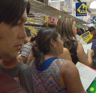 [VIDEO] Las caóticas compras de útiles escolares