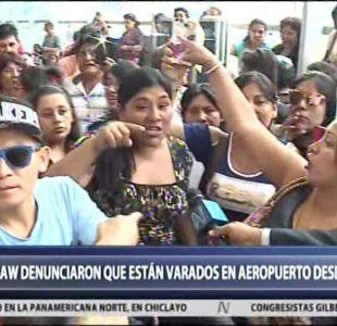 [VIDEO] Las protestas en el aeropuerto de Lima contra Law