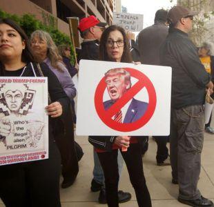 Primeras manifestaciones por la visita de Trump a California