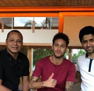 Presidente del París Saint-Germain visita a Neymar en Brasil