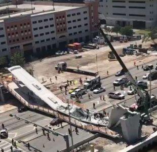 [VIDEO] Miami: Colapso de puente peatonal deja varios muertos y heridos