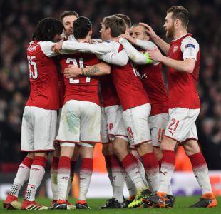 Arsenal vence sin problemas al Milan y accede a cuartos de final de la Europa League