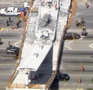 [VIDEO] 6 muertos deja derrumbe de puente en Miami