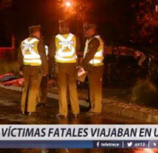 Cuatro fallecidos en accidente de tránsito protagonizado por carabinero