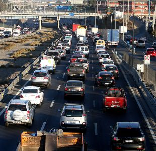 [VIDEO] Protesta de agrupación No + TAG provoca congestión en carreteras