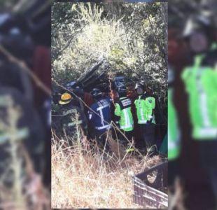 Hermanos fallecen tras desbarrancar su auto en la Ruta 5 Norte