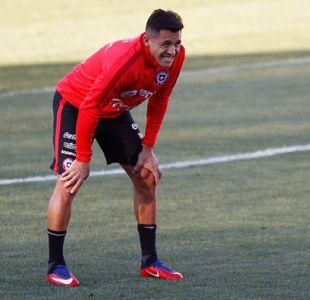 """Alexis Sánchez se integra a """"La Roja"""" y realiza su primera práctica de la era Rueda"""