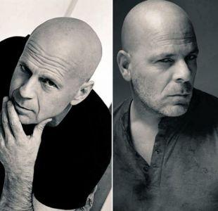 Esta es la razón por la que el doble oficial de Bruce Willis visitó Chile