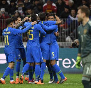 Brasil despierta a tiempo y golea a Rusia en amistoso en Moscú