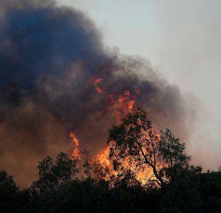 Onemi mantiene alerta roja en Quilpué por incendios forestales