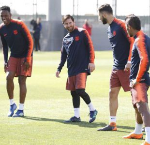 Lionel Messi se reincorpora parcialmente al entrenamiento de FC Barcelona