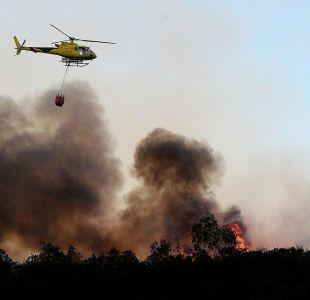 Declaran Alerta Roja para la comuna de Alhué por incendio forestal