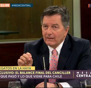 [VIDEO] Canciller Ampuero No está en cuestión ningún centímetro cuadrado de soberanía chilena