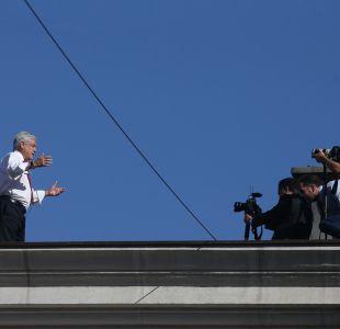 [FOTOS] Presidente Piñera sorprendió grabando video en el techo de La Moneda