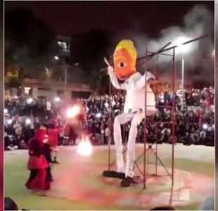 [VIDEO] Kast acusa incitación al odio por quema de muñeco en Valparaíso
