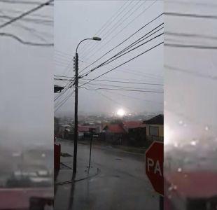 [VIDEO] Tormenta eléctricas, anegamientos y cortes de luz en Punta Arenas durante sistema frontal