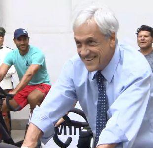[VIDEO] Tenis, spinning y ajedrez: Los deportes que marcaron la jornada del Presidente Piñera