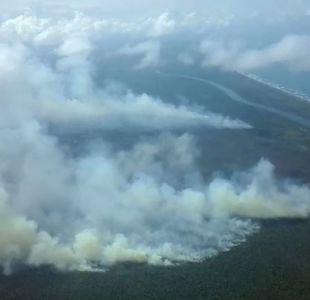 El incendio fuera de control que avanza en la reserva Indio Maíz en Nicaragua