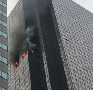 [FOTOS Y VIDEOS] Incendio se registra en el piso 50 de la Torre Trump en Nueva York