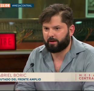 [VIDEO] Gabriel Boric: El PS se equivocó al restarse de las comisiones del gobierno