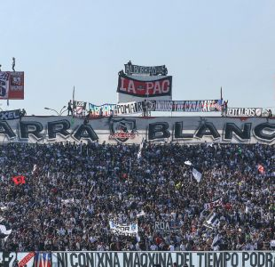 Con tres detenidos concluyó arengazo de Colo Colo en el Estadio Monumental