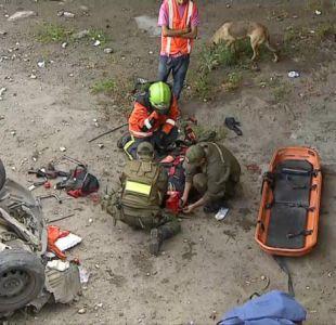 [VIDEO] Registro captó el momento en que ciclista cayó a la ribera del río Mapocho