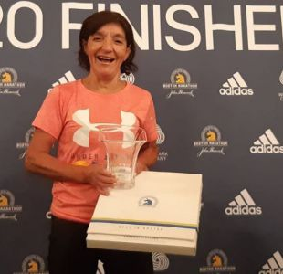 [VIDEO] La chilena de 67 años que brilló en el Maratón de Boston