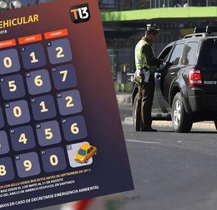 Restricción vehicular para automóviles catalíticos: este es el calendario de mayo